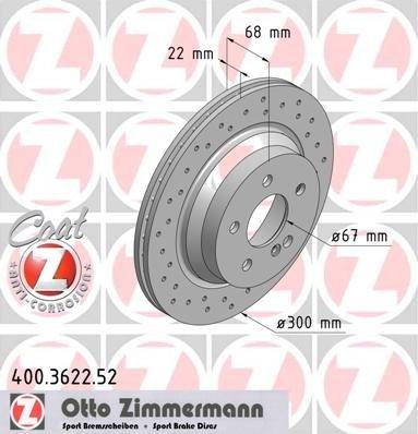 Zimermann sport set 2 discuri frana spate cu r300mm pt mercedes