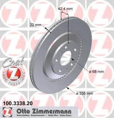 Zimmermann disc frana spate pt audi A8, vw phaeton