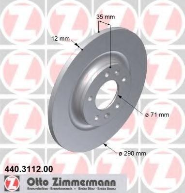 Zimmermann disc frana spate pt citroen c5,peugeot 407,508,607