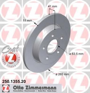 Zimmermann disc frana spate pt ford focus 2,c-max, volvo v50