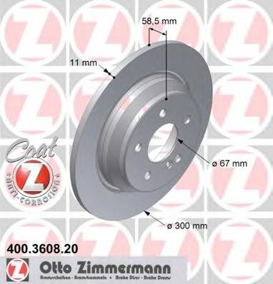 Zimmermann disc frana spate pt mercedes s-class(w220)