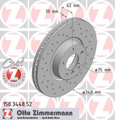Zimmermann set 2 discuri frana sport fata R348 bmw