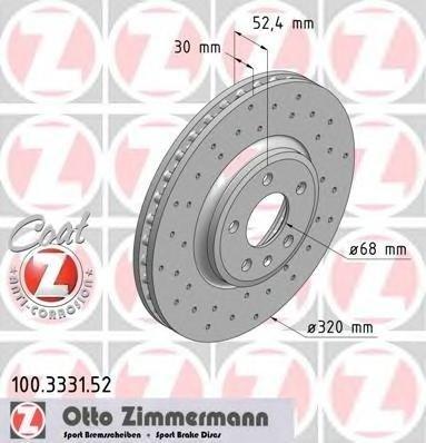Zimmermann sport set 2 discuri frana fata cu r320mm pt audi