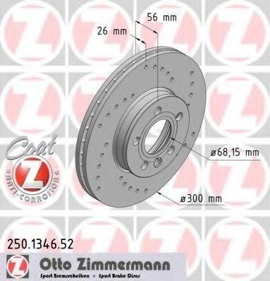 Zimmermann sport set 2 discuri frana fata pt galaxy,alhambra,sharan